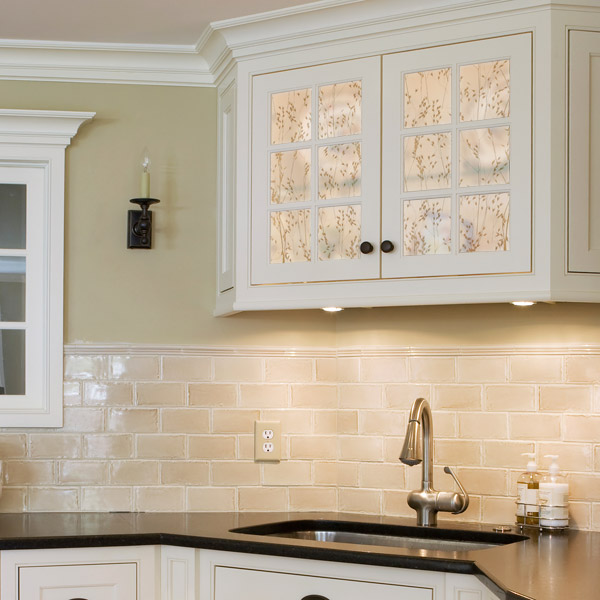 Decorative Resin Inserts for kitchen cabinets